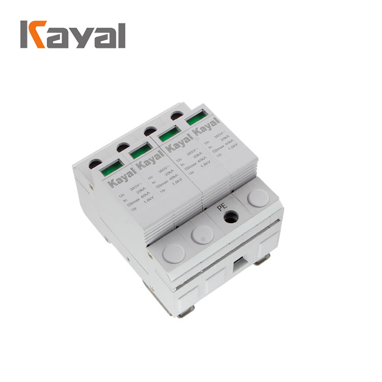 Factory price surge protection device 4P, Surge protector 40KA,lightning arrester