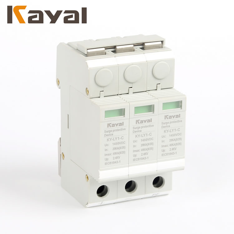 Solar PV System 3P DC Surge Protector Device