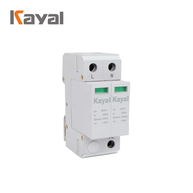 Single outlet surge protector appliance for photovoltaic systems