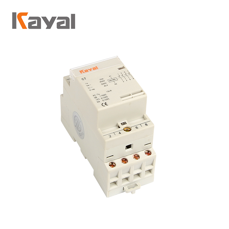Kayal Hot Selling 3 Phase 1P 2P 3P Dmagnetic Ac Compressor Modular Contactor