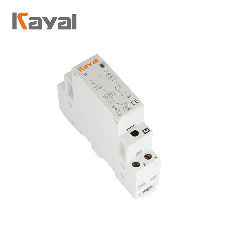 Kayal CT-25A 2P 2NO 220V 50/60HZ Household Ac Modular Magnetic Contactor 2NO Home Electrical Contactor