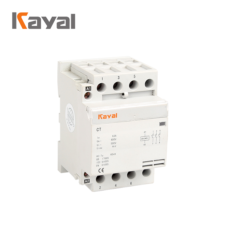4P Household Modular Types of Ac Magnetic Contactor