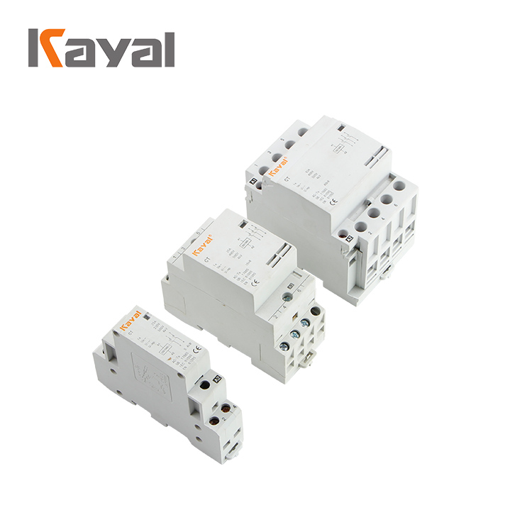 Household Electrical 240v Coil 1 Pole 4 Pole Normally Close AC Modular Contactor for Home Using Household Contactor